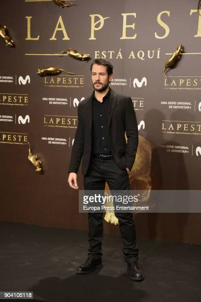 Alejandro Albarracin attend 'La Peste' premiere at Callao Cinema on January 11 2018 in Madrid Spain