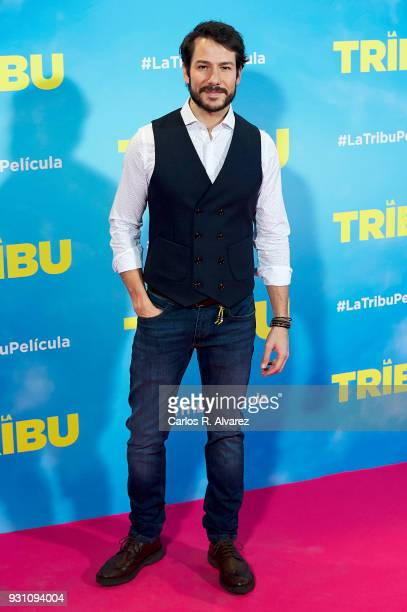 Alejandro Albarracin attends 'La Tribu' premiere at the Capitol cinema on March 12 2018 in Madrid Spain