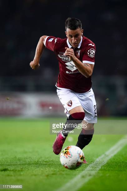 Alejandro 'Alex' Berenguer of Torino FC in action during the Serie A football match between Torino FC and AC Milan. Torino FC won 2-1 over AC Milan.