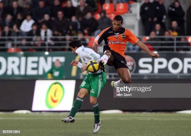 Alejandro ALONSO / Alaixys ROMAO Lorient / Saint Etienne 28eme journee de Ligue 1