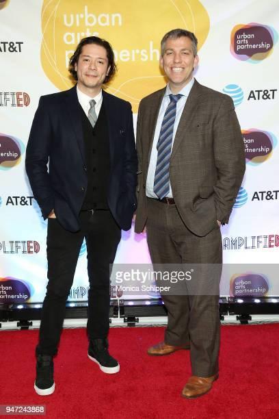 Alejandro Alvarez and Chris Caruso attend the Urban Arts Partnership's AmplifiED Gala at The Ziegfeld Ballroom on April 16 2018 in New York City