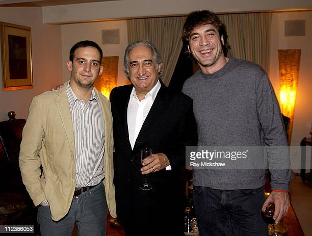 Alejandro Amenabar director of 'The Sea Inside' Jose Luis Dicenta Consul General of Spain and Javier Bardem