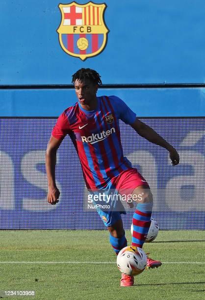 Alejandro Balde during the friendly match between FC Barcelona and Club Gimnastic de Tarragona, played at the Johan Cruyff Stadium on 21th July 2021,...