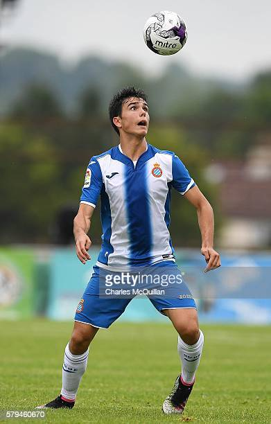 Alejandro Barmejo Escribano of Espanyol during the third and fourth place play off Super Cup NI game at Ballymena Showgrounds on July 23 2016 in...