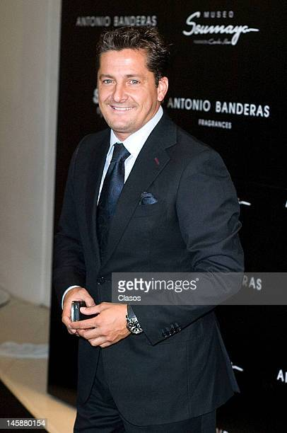 Alejandro Basteri poses for a picture at the launch of the new fragrance of Antonio Banderas Her Secret on June 06 2012 in Mexico City Mexico
