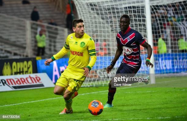 Alejandro BEDOYA / Lamine SANE Nantes / Bordeaux 31eme journee de Ligue 1 Photo Dave Winter / Icon Sport