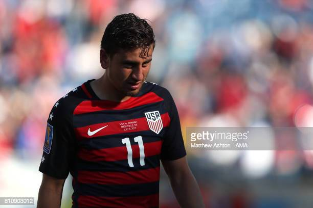 Alejandro Bedoya of the United States looks dejected during the 2017 CONCACAF Gold Cup Group B match between the United States and Panama at Nissan...