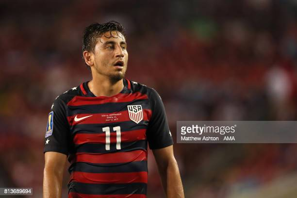 Alejandro Bedoya of the United States looks on during the 2017 CONCACAF Gold Cup Group B match between the United States and Martinique at Raymond...