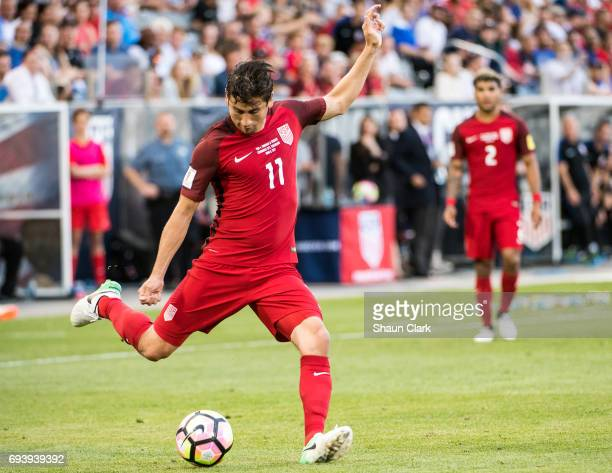 Alejandro Bedoya of United States during the World Cup Qualifier match between the United States and Trinidad Tobago at Dick's Sporting Goods Park on...