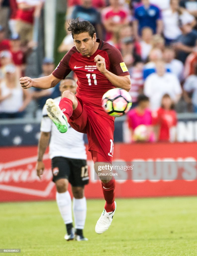 Alejandro Bedoya #11 of United States during the World Cup Qualifier match between the United States and Trinidad & Tobago at Dick's Sporting Goods Park on June 8, 2017 in Commerce City, Colorado. The United States won the match 2-0