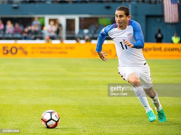 Alejandro Bedoya of United Statesduring the Copa America Centenario Quarterfinal match between United States and Ecuador at CenturyLink Field on June...