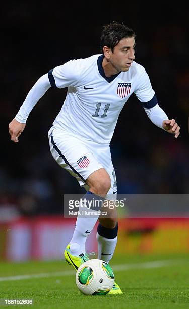 Alejandro Bedoya of USA in action during the International Friendly match between Scotland and USA at Hampden Park on November 15 2013