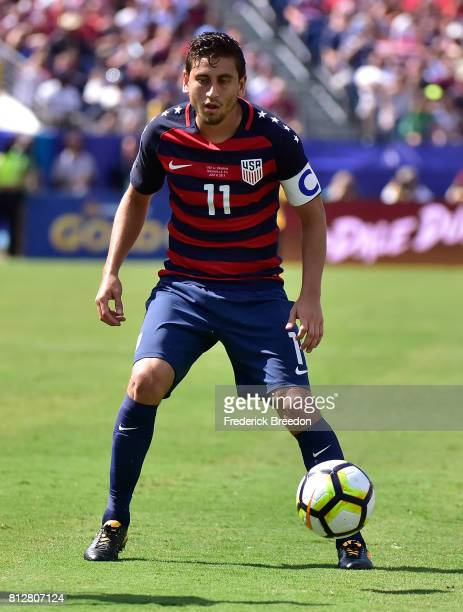 Alejandro Bedoya of USA plays against Panama during a CONCACAF Gold Cup Soccer match at Nissan Stadium on July 8 2017 in Nashville Tennessee