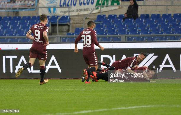 Alejandro Berenguer celebrates after scoring goal 01 during the Italian Serie A football match SS Lazio vs FC Torino at the Olympic Stadium in Rome...