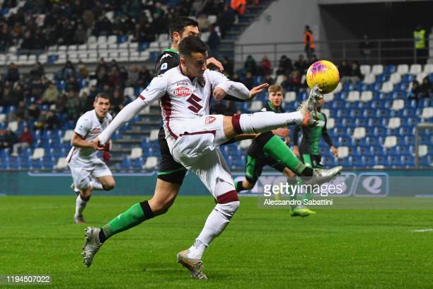 Alejandro Berenguer of Torino FC in action during the Serie A match between US Sassuolo and Torino FC at Mapei Stadium Città  del Tricolore on...
