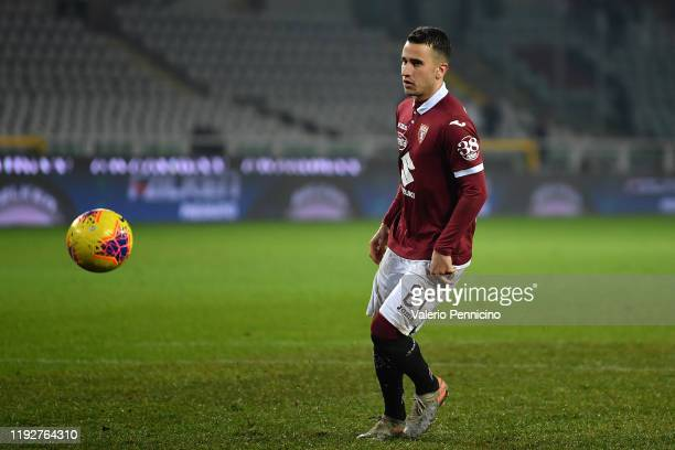 Alejandro Berenguer of Torino FC scores his goal from the penalty spot during the Coppa Italia match between Torino FC and Genoa CFC at Stadio...