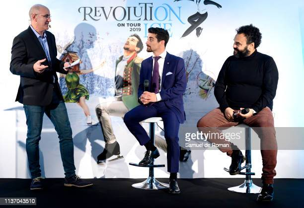 Alejandro Blanco Javier Fernandez and Carlos Jean attend Revolution on Ice 2019 Tour presentation on March 20 2019 in Madrid Spain