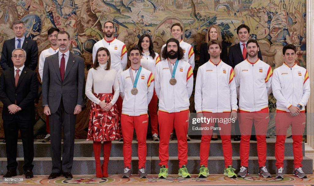 Spanish Royals Receive Olympic Team at Zarzuela Palace