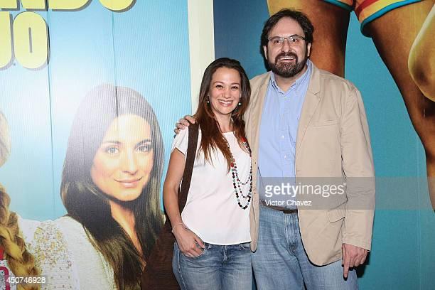 Alejandro Calva and guest attend the 'Volando Bajo' Mexico City premiere at Cinepolis Diana on June 16 2014 in Mexico City Mexico