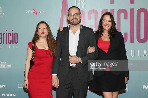 Alejandro Calva and guests attend 'Las Aparicio' Mexico City premiere at Cinepolis Plaza Universidad on February 23 2016 in Mexico City Mexico