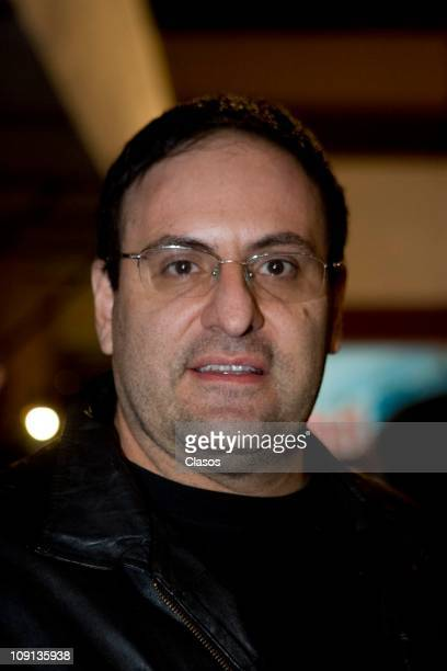 Alejandro Calva attends a meeting with the cast to watch the first chapter of the soap opera Una Familia con Suerte on February 14 2011 in Mexico...