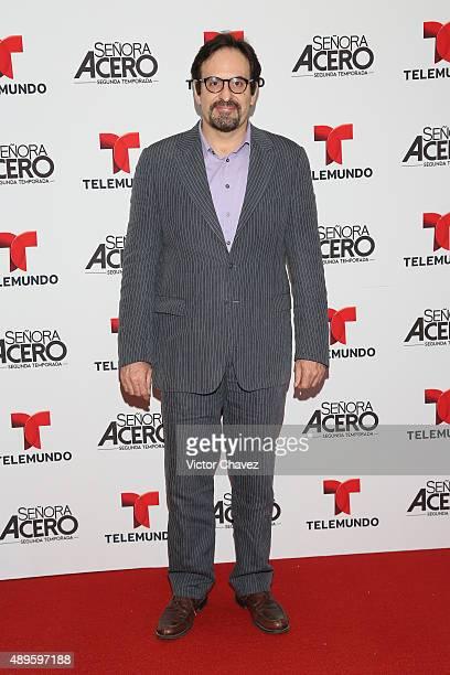 Alejandro Calva attends 'Senora Acero' second season premiere red carpet at Cinepolis Plaza Carso on September 22 2015 in Mexico City Mexico