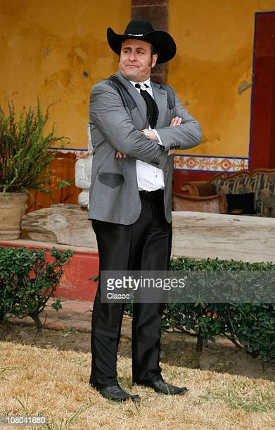 Alejandro Calva during the recording of the TV series La Reina Del Sur at San Miguel Ometusco farm Mexico state on January 13 2011 in Mexico