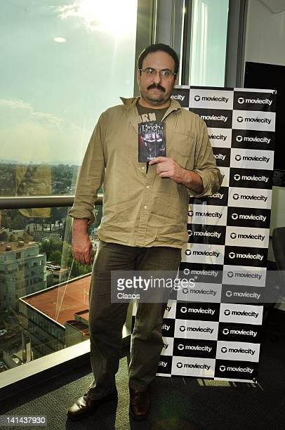 Alejandro Calva poses during the presentation of Lynch the new serie in Movie City on March 15 2012 in Mexico City Mexico