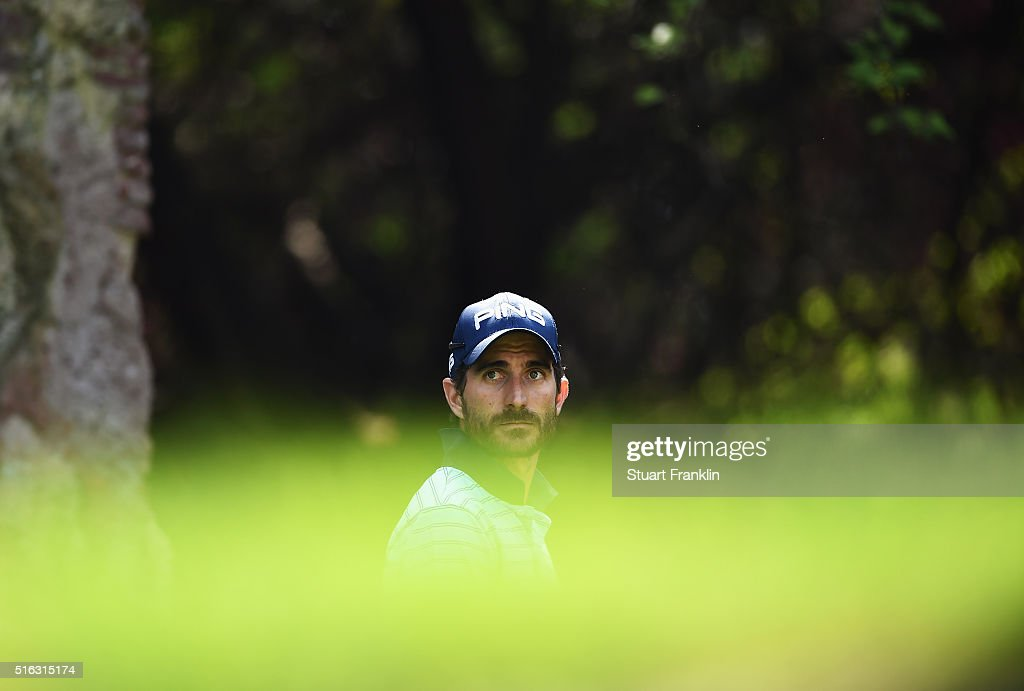 Alejandro Canizares of Spain looks during the second round of the Hero Indian Open at Delhi Golf Club on March 18, 2016 in New Delhi, India.