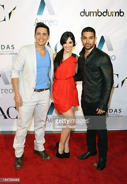 Alejandro Chaban Alexandra Pomales and Wilmer Valderrama attend the Internet Week New York HQ closing party at IAC HQ on May 17 2012 in New York City