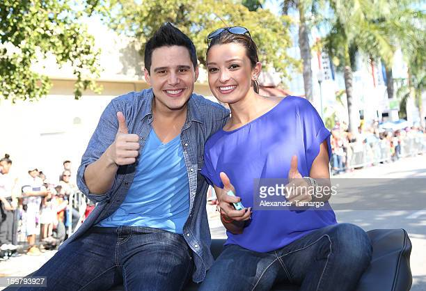 Alejandro Chaban and Antonietta Collins participate in the 43rd Annual Three Kings Day Parade on January 20 2013 in Miami Florida