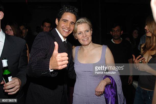 Alejandro Chaban and Mary Harron attend INTERVIEW MAGAZINE afterparty for the NY Premiere of THE NOTORIOUS BETTIE PAGE at Bed on April 10 2006 in New...