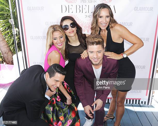 Alejandro Chaban Ma Alejandra Chaban Jessica Cediel William Valdes and Angelica Castro attend the Glamour Beauty Awards Latin America 2016 at...