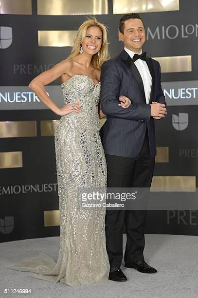 Alejandro Cheban and Alejandra Cheban attend Univision's 28th Edition of Premio Lo Nuestro A La Musica Latina on February 18 2016 in Miami Florida