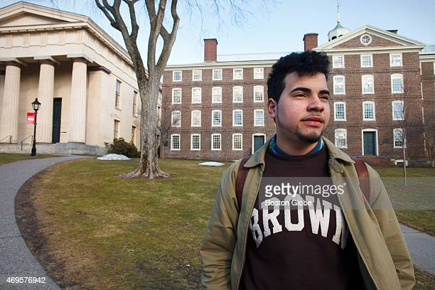 Alejandro Claudio a freshman at Brown University, walks through campus on a sunny Tuesday afternoon. Claudio gained a full-ride scholarship to the...