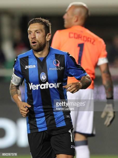 Alejandro Dario Gomez of Atalanta BC celebrates his second goal during the Serie A match between Atalanta BC and FC Crotone at Stadio Atleti Azzurri...
