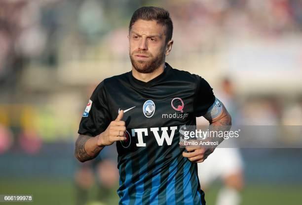 Alejandro Dario Gomez of Atalanta BC looks on during the Serie A match between Atalanta BC and US Sassuolo at Stadio Atleti Azzurri d'Italia on April...
