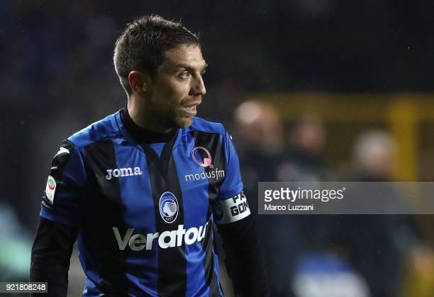 Alejandro Dario Gomez of Atalanta BC looks on during the serie A match between Atalanta BC and ACF Fiorentina at Stadio Atleti Azzurri d'Italia on...