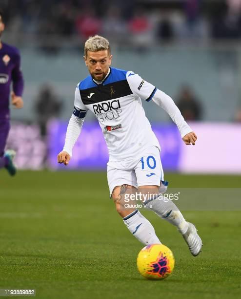 Alejandro Darío Gómez of Atalanta in action during Serie A match between ACF Fiorentina and Atalanta at Stadio Artemio Franchi on January 15, 2020 in...