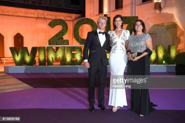 Alejandro Davidovich Fokina Garbine Muguruza and Conchita Martinez attend the Wimbledon Winners Dinner at The Guildhall on July 16 2017 in London...