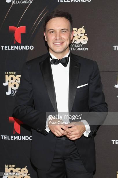 Alejandro de la Madrid attends the 'Jose Jose El Principe De La Cancion' Telemundo tv series premiere at Four Seasons hotel on January 11 2018 in...