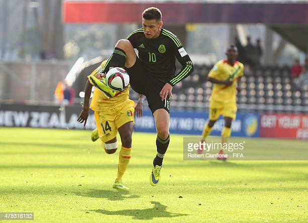 Alejandro Diaz of Mexico controls the ball during the FIFA U20 World Cup New Zealand 2015 Group D match between Mexico and Mali at Otago Stadium on...