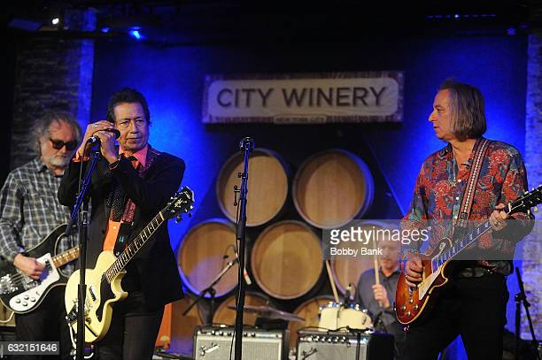 Alejandro Escovedo Peter Buck and John Moen perform In Concert at City Winery on January 19 2017 in New York City