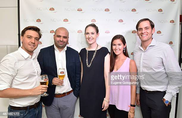 Alejandro Esteve Ricardo Marques Lacey Drucker Lindsay Luke and Adam Warrington attend the Stella Artois NOVA Launch Event at Gallery R'Pure on...