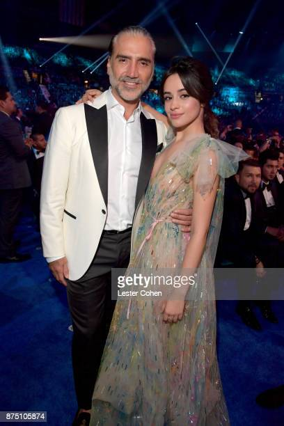 Alejandro Fernandez and Camila Cabello attend The 18th Annual Latin Grammy Awards at MGM Grand Garden Arena on November 16 2017 in Las Vegas Nevada