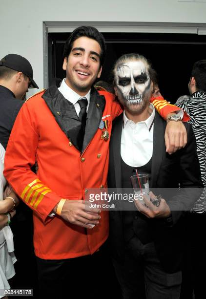 Alejandro Fernandez and guest attends Diego Boneta's David Bernon's Halloween at the Hedges by Chivas Regal on October 30 2017 in West Hollywood...