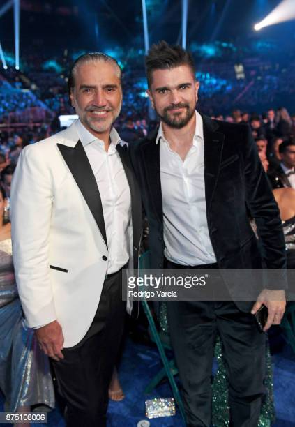 Alejandro Fernandez and Juanes attend The 18th Annual Latin Grammy Awards at MGM Grand Garden Arena on November 16 2017 in Las Vegas Nevada