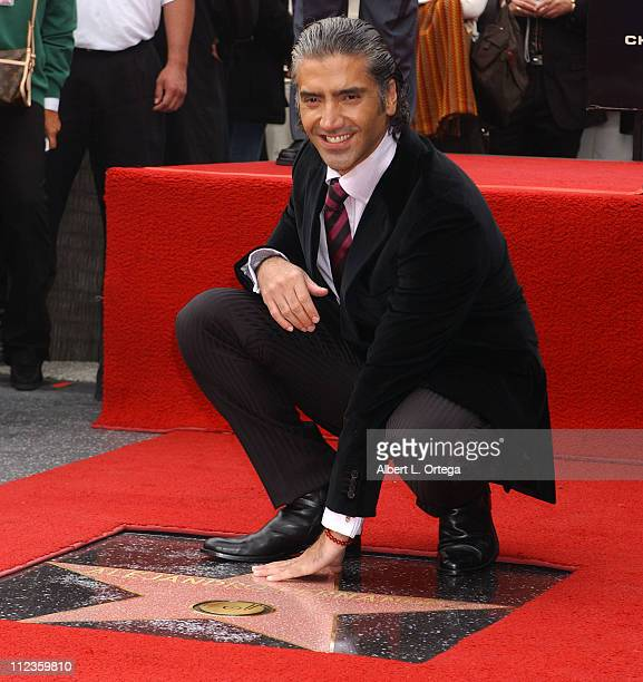 Alejandro Fernandez during Alejandro Fernandez Honored with a Star on the Hollywood Walk of Fame for His Achievements in Music at 6160 Hollywood Blvd...