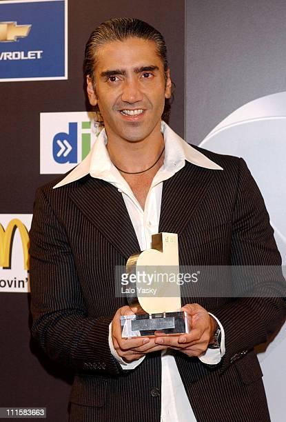 Alejandro Fernandez during Alejandro Fernandez Receives Cadena Dial Music Award at La Riviera Club in Madrid Spain