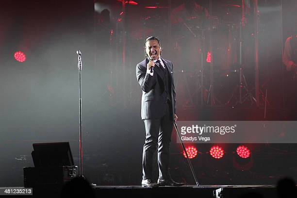 Alejandro Fernandez performs as part of his tour 'Confidencias' at Coliseo Jose M Agrelot on March 28 2014 in San Juan Puerto Rico